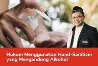 hukum menggunakan hand sanitizer beralkohol